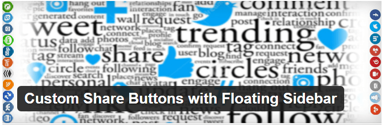 Custom Share Buttons with Floating Sidebar — wordpress social