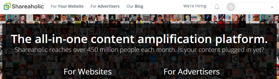 Shareaholic — Content Amplification Software social widget wordpress