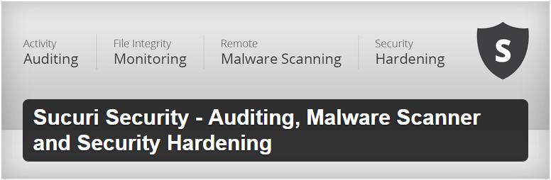 Sucuri Security Auditing Malware Scanner and Security Hardening — WordPress Plugins