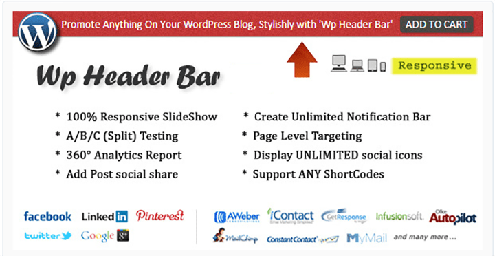 wp header bar wordpress notification bar