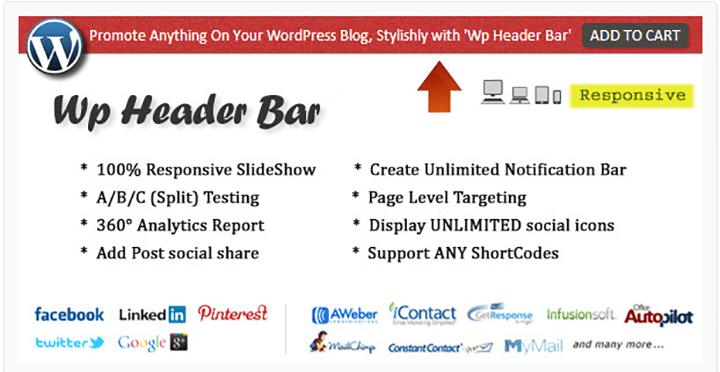 wp header bar wordpress notification bar