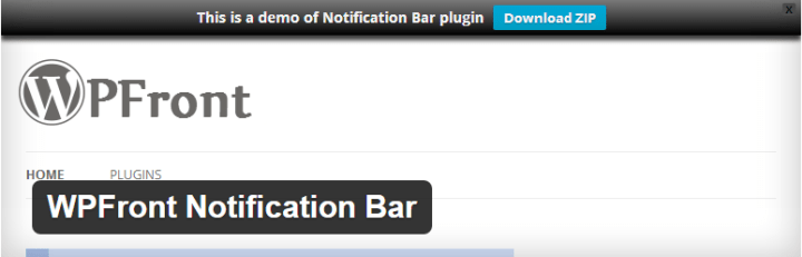 notification top bar plugin