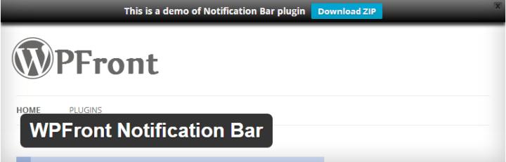 notification top bar plugin