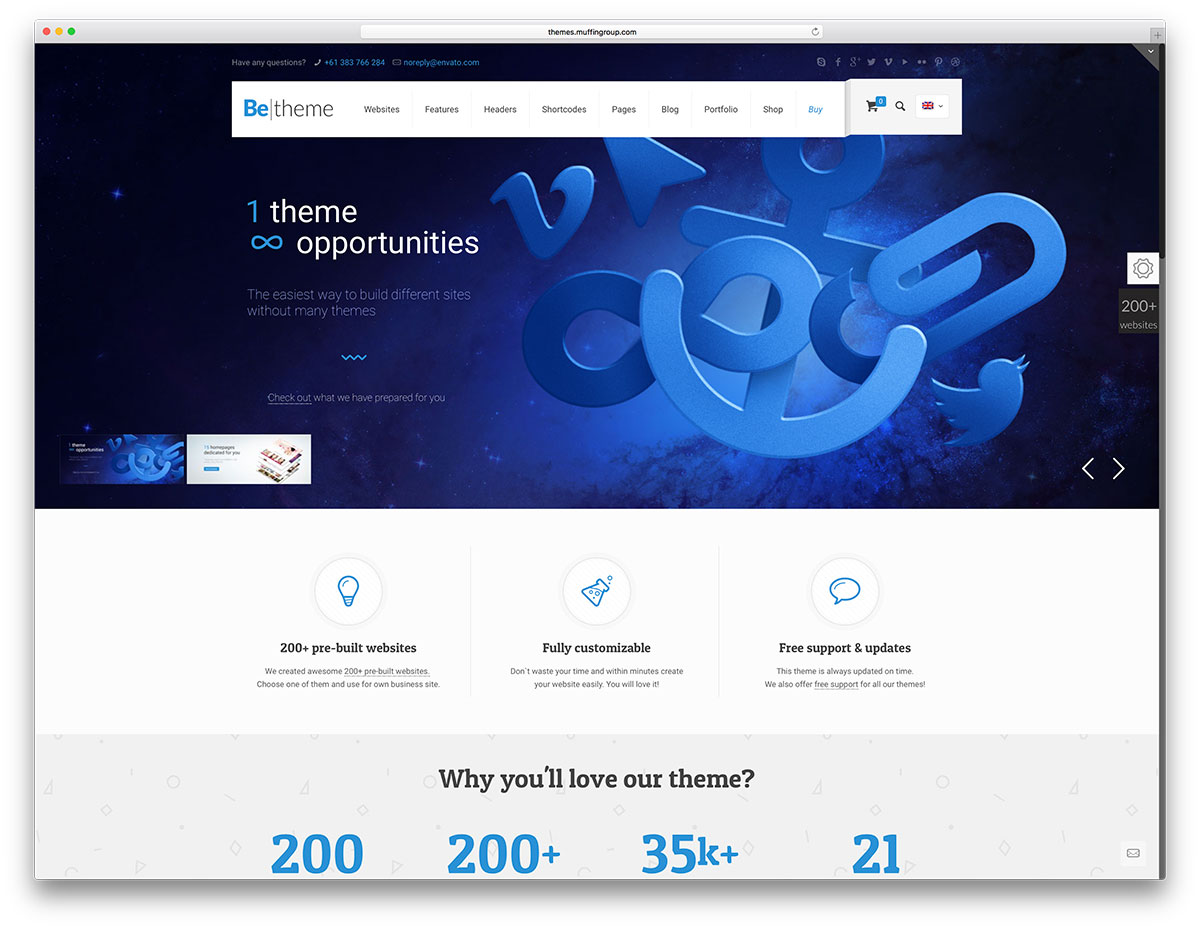 betheme mulipurpose wordpress templates business premium