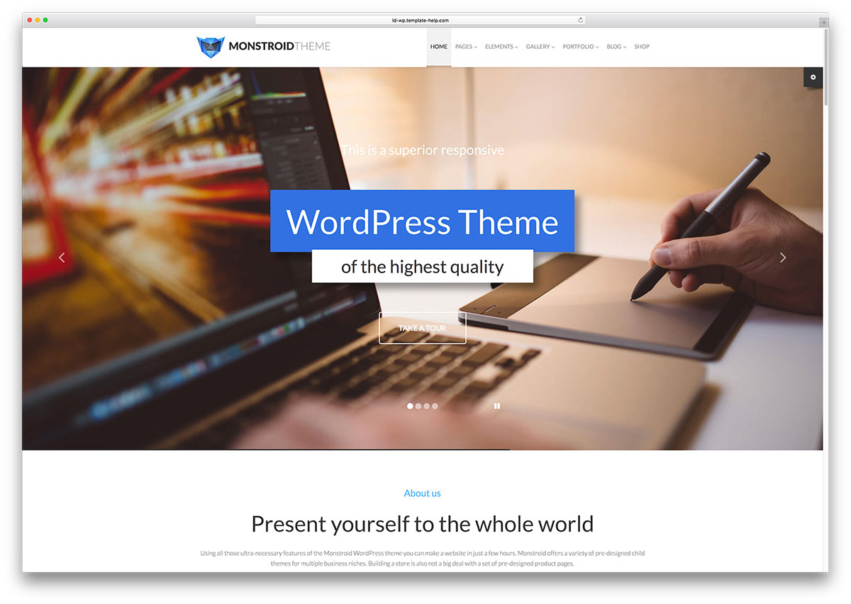monstroid-templates for wordpress