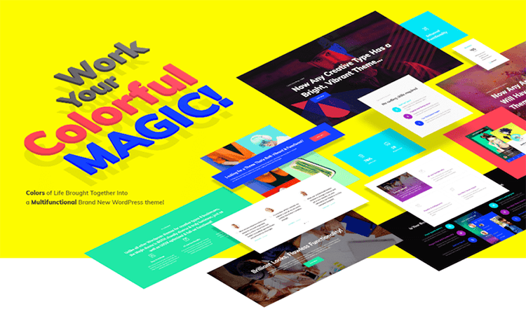 magic super template wordpress