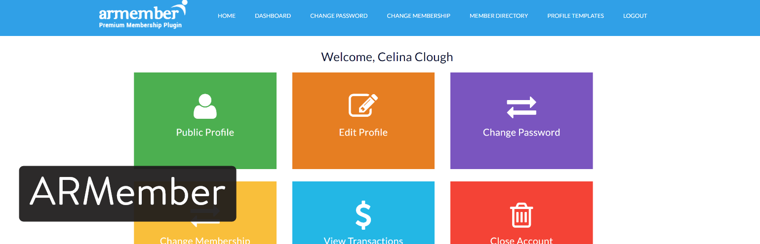 ARMember wordpress plugin membership