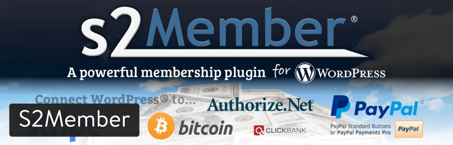 s2member WordPress plugin member area wp