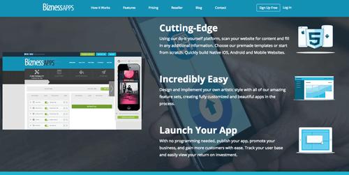 biznessapps aplicativo para criar